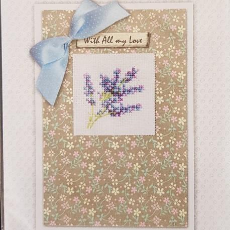 Borduurkaart: Lavendel