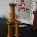 Brocante houten klosjes (8 x 3,5 cm)