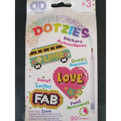 "Dotzies stickers ""Love"""