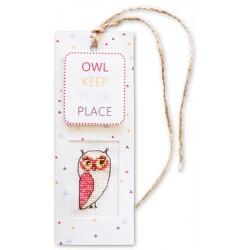 "Boekenlegger ""Owl Keep Place"""