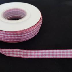 Lint Geruit Roze (9mm)