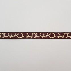 Lint: Girafprint Bruin/ivoor