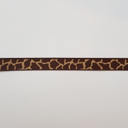 Lint: Girafprint bruin/beige