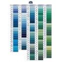 DMC garen: Blauw/groene kleuren.