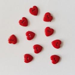 Rode hartjes knopen